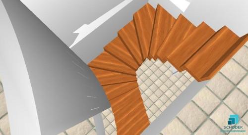 Wizualizacja - schody